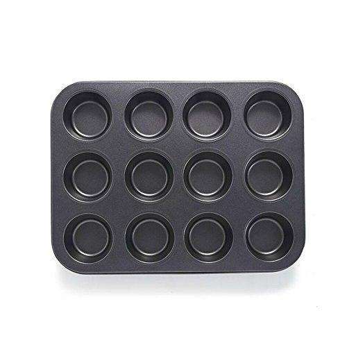 Keysui Muffin Backblech Mini 12 Stück Muffiinform Muffinbackform Backform Törtchen Form Mini-Kuchen