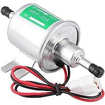 KIMISS 12V universal Bomba de combustible eléctrica de gasolina [Aleación de aluminio] Generadores de
