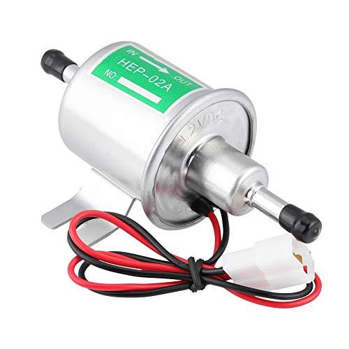 KIMISS 12V universal Bomba de combustible eléctrica de gasolina [Aleación de aluminio]...