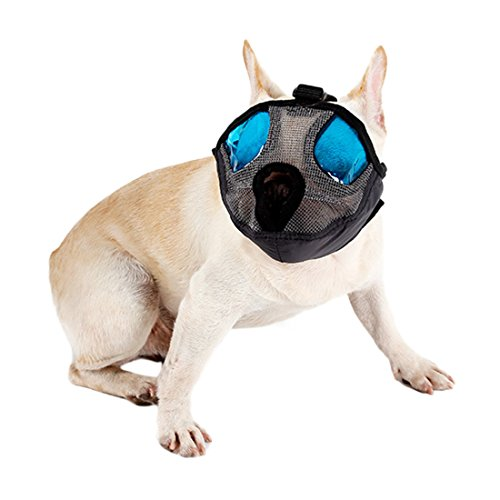 Atmungsaktiv Pet Hunde Schnauzen Mesh Maulkorb Mund Korb für kurze Schnauze Hunde