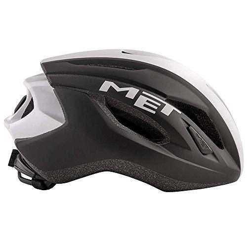 MET Strale Helm Black/White Panel Kopfumfang M | 56-58cm 2019 Fahrradhelm