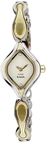 Titan Raga Analog White Dial Women's Watch - NC9904BM01J image