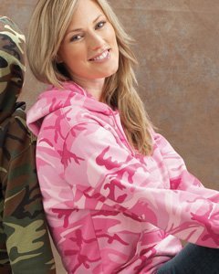 Adult Camo Pullover Fleece Hoodie PINK WOODLAND XL Camo-fleece-pullover