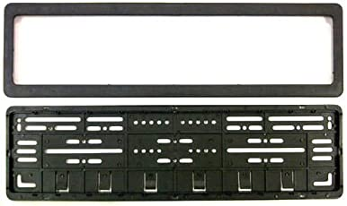 Guance CAR Number Plates Frame - (Number Plates Holders)-Front and Back for Hyundai Verna 2018