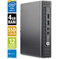 HP ProDesk 400 G1 Mini | Mini PC | Intel Core i3-4160T @ 3,1 GHz | 4GB DDR3 RAM | 128GB SSD | Windows 10 Home (Generalüberholt)