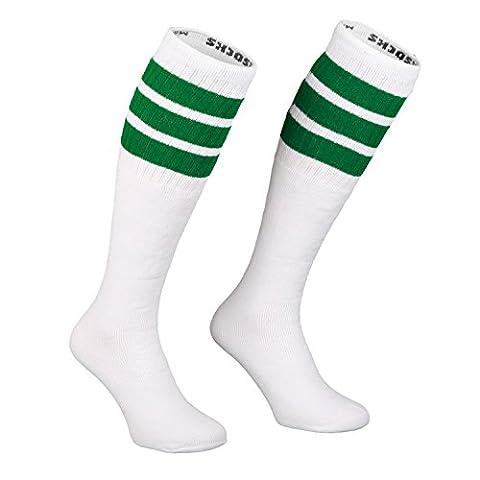 Skatersocks 25 Inch Tube Socken Kniestrümpfe oldschool Sportsocken weiß Streifen