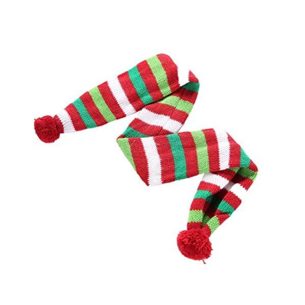 POPETPOP Elegante Bufanda para Mascotas, Bufanda de Navidad Ajustable para Perrito, Baberos Accesorios para Perros y… 2