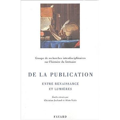 De la publication : Entre Renaissance et Lumières