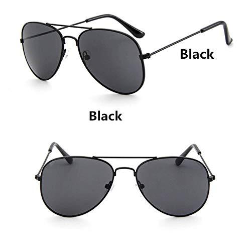 GAOHAITAO Fashion Kids Aviator Sunglasses Kids Boys Girls Design Silver Frame Blue Lens Pilot Sun Glasses for Children,Style 5