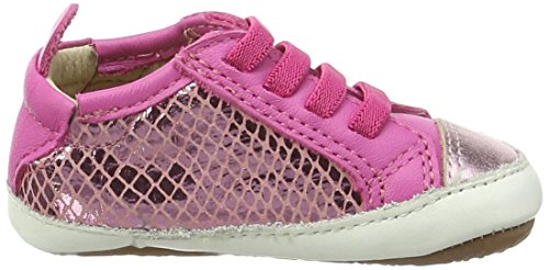 Old Soles Bambini Jogger Baby Mädchen Krabbel- & Hausschuhe Multicolor (Pink Snake/Pink Frost/Fuchsia)