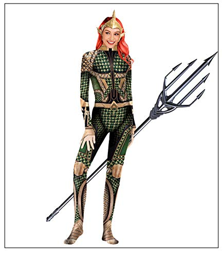 Aquaman Kostüm Adult Superman Kostüme Kinder Justice League Superhelden Kostüme,Party Movie Cosplay Overall Kostüm,Halloween Karneval Kostüm,Green-L