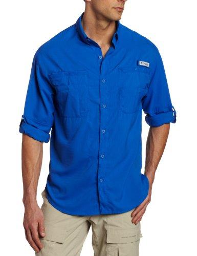 Columbia Tamiami II LS Shirt, chemise à manches longues Homme Bleu