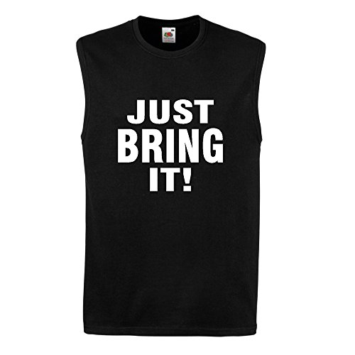 JUST BRING IT! SLEEVELESS T shirt MUSCLE TOP VEST BNWT WWF THE ROCK WWE