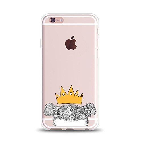 You Are My King Paar Passende Stuff Geschenke iPhone Cases-Princess & Prince King & Queen Freund Freundin klar Gummi Couple Fall, 1 Case-Queen for iPhone 7 Plus(iPhone 8 Plus)