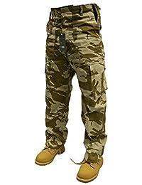 """Adultes 6 Poches Armée Combat Pantalons Cargos W28""""-56"""" Court, Rég & Long Jambes en 18 Couleurs"""