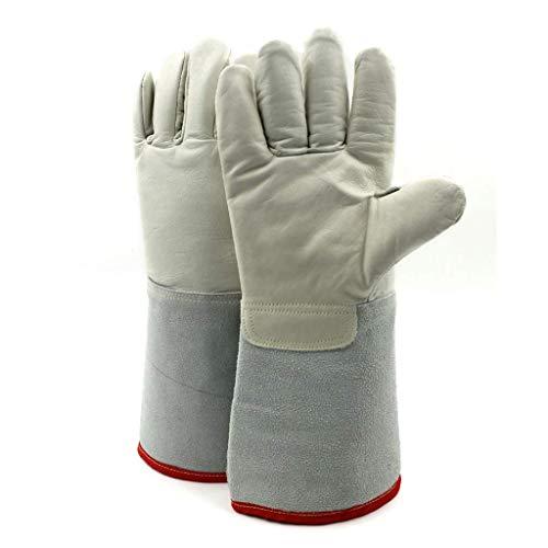 MOCHENG 150 Grad Niedertemperatur-resistente Handschuhe, Ledermaterial Anti-Liquid Stickstoff Kalthandschuhe, geeignet für trockene Lagerung von LNG Füllstationen Handschuhe