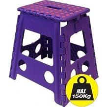 Large Plastic Folding stools - UP TO 150 KG CAPACITY (Voilet)
