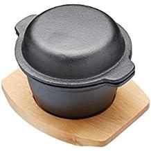Kitchencraft Artesa Mini Cazuela, Hierro Fundido, Negro, 9.5x15x12 cm