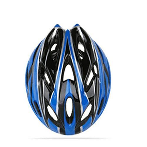 Casco de bicicleta Casco de formación integrada Equipo de bicicleta Accesorios de bicicleta de montaña duraderos de seguridad - Azul Negro