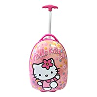"Children Kids Holiday Travel Character Suitcase Luggage Trolley Bags 16"" Hello Kitty Flower"