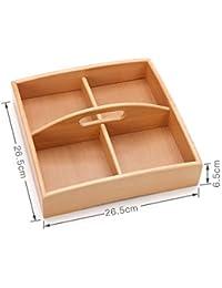 Kamiwwso El Plato de bocadillos se Puede Usar en una Caja de Frutas de Oficina y