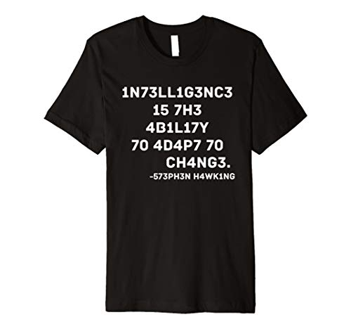 Intelligent Science T Shirt With A Quote