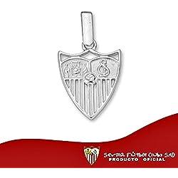 Colgante escudo Sevilla FC plata de ley liso 14mm. calado [8553] - Modelo: 40-050
