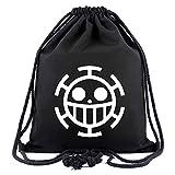 ALTcompluser One Piece Anime Turnbeutel Segeltuch Gymsack Gym Bag Sporttaschen, Sportbeutel Rucksack für Damen & Herren(Trafalgar Law)