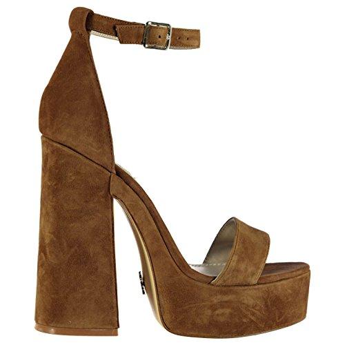 Windsor Smith Roar Damen Schuhe Plateau Absatz Sandalen Sandaletten Leder Tan