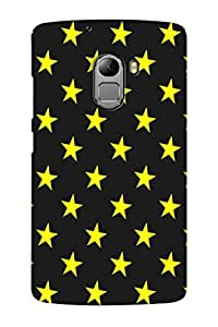 AMAN Stars Yellow 3D Back Cover for Lenovo K4 Note