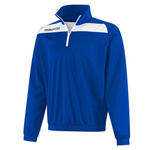 Felpa Tuta Sportiva Uomo Bicolore in Poliestere con 1/4 Zip a Contrasto Macron Nile Top, Colore: Azzurro/Bianco, Taglia: M