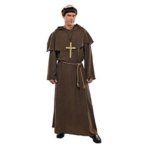 h / Priester / Pater 4-teilig Gr. 44/46 (Mönch Kostüme)
