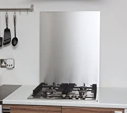 0.9mm Thick Brushed Stainless Steel Kitchen Splashback 600mm x 750mm