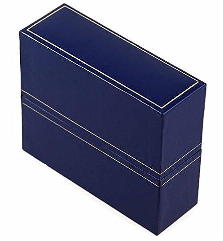 Bleu royal Bleu Boîte Bracelet en similicuir