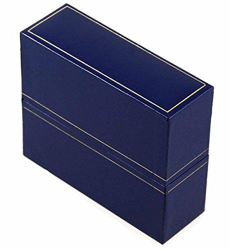 Royal Blau blau Kunstleder Armreif Box (Schmuck Lila Ringe Box Schal)