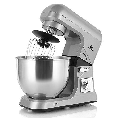 MURENKING MK36C 1000W Küchenmaschine Rührmaschinen Planetarisches Rührsystem 5-Qt 6-Gang Rührgerät Küche Zubehör (Grau) Mini-küchenmaschine Reibe