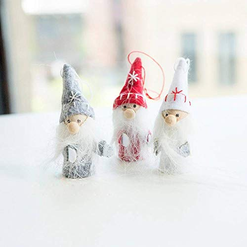 LYSL Weihnachtsdekoration, Weihnachtsmann 3 Stück Weihnachtsbaum Dekorationen kleine Puppen Ornamente kleine Geschenke kleine Weihnachtsspielzeug das am Fenster aufgehängt Werden kann -