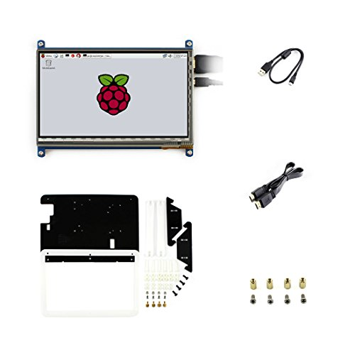 7 inch C LCD Rev2.1 Touch Screen 1024*600 with Bicolor case HDMI interface Capacitive Display For Raspberry pi3/3B+/2 B/B+/A
