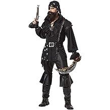 California - Disfraz de pirata para hombre, talla 40-42 (01188-BLK