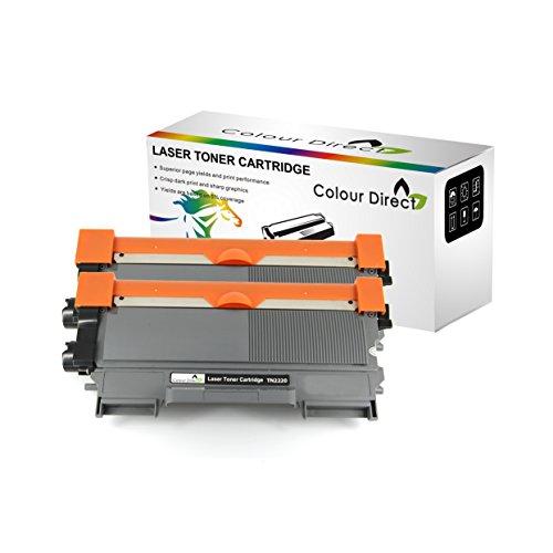 2 X Colour Direct TN2220 Schwarz Kompatibel Toner Patronen Ersatz für Brother DCP7055, DCP7055W, DCP7057, DCP7060D, DCP7065DN, DCP7070DW, HL2130, HL2132, HL2135W, HL2240, HL2240D, HL2250DN, HL2270DW, MFC7360N, MFC7460DN, MFC7460N, MFC7860DW, FAX2840, FAX2845, FAX2940