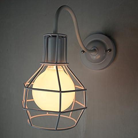 kinine Europei e Americani del villaggio di stile retrò industriale lampada da parete iron box di vetro di un ristorante esterno Nordic Bar corsia loft lampade da parete 035 lampade da parete