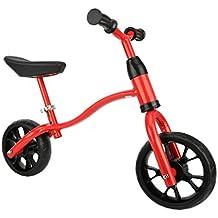 Fascol Bicicleta sin Pedales para Niños con Sillín Regulable de1 a 6 Años,Max Carga 40 kg,Rojo