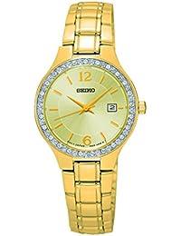 Seiko Damen-Armbanduhr Quarz Analog Edelstahl beschichtet SUR782P1