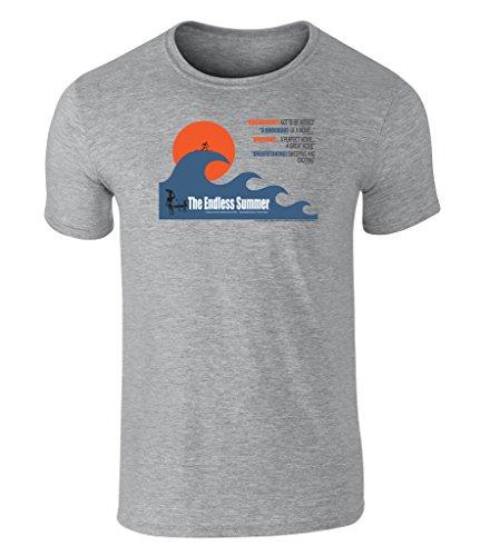 the-endless-summer-big-wave-grafik-unisex-t-shirt-offiziell-lizenziert-von-bruce-brown-films-grau-la