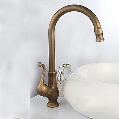 SSBY Rame chiavi antiche-bacino singolo rubinetto acqua calda e fredda