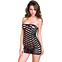 Sexy Petite Pothole Chemise in black, to fit UK4-12