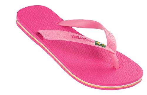 Ipanema Damen Brazil II Leicht Gummi Sommer Urlaub Sandalen Flip Flops - Leuchtend Rosa - 39/40 (Sandale Leichte)