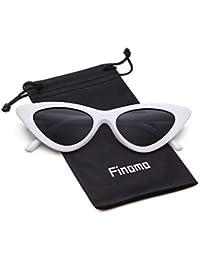 Finomo Cat Eye Lunettes de soleil Clout Lunettes Vintage Mod Kurt Cobain  UV400 Lunettes pour Filles 95791319ed47