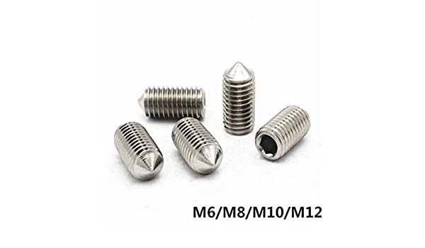M3-M16 Hex Hexagon Socket Allen Head Cone Point Grub Set Screw Tapered End Bolt