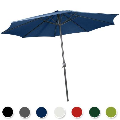 Galleria fotografica Miadomodo Ombrellone da giardino colore a scelta Ø 3 m (Navy (blu scuro))